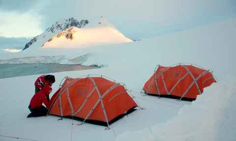 Camping in Antarctica